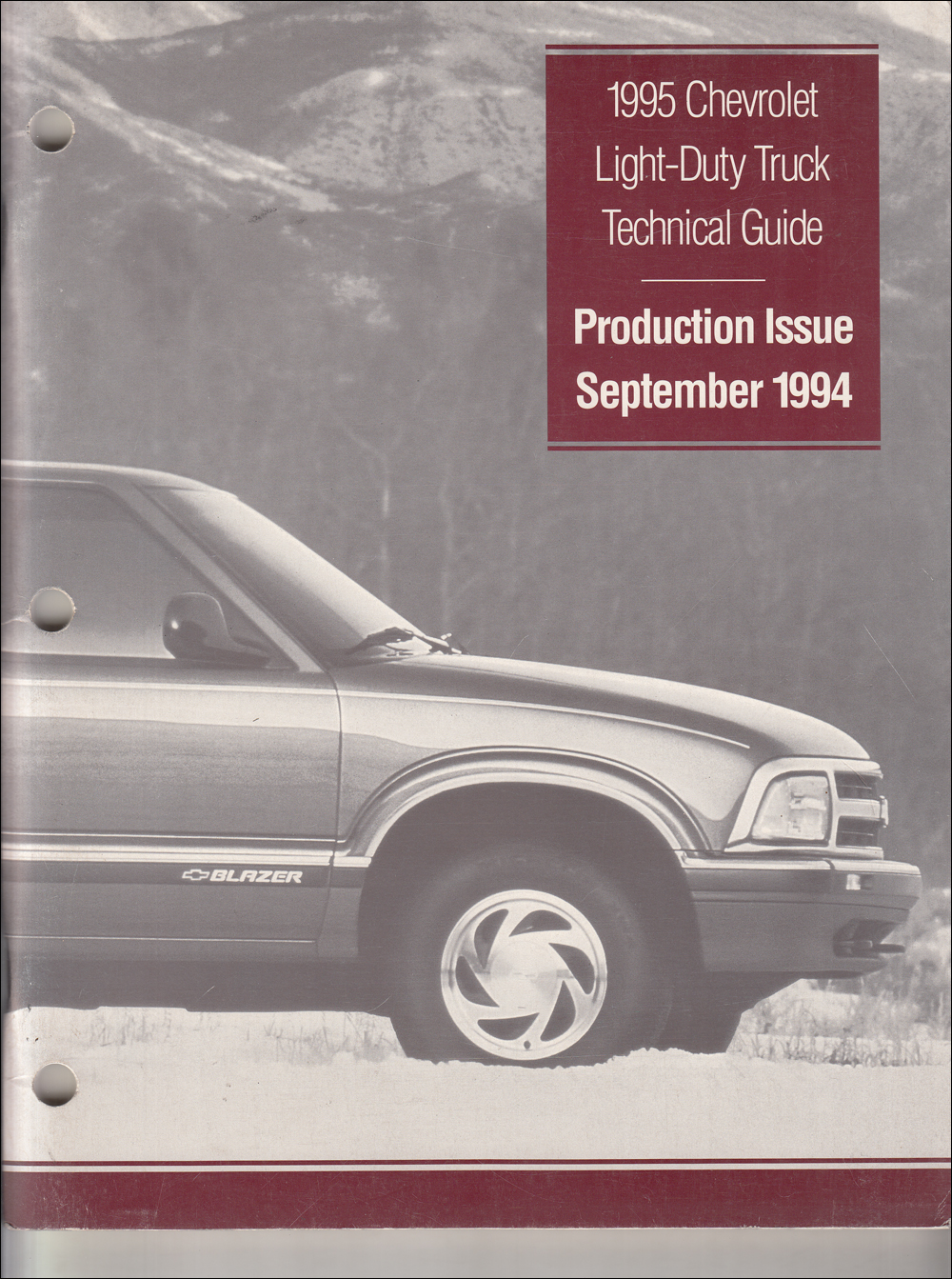 1995 Chevrolet Truck Technical Guide Dealer Album Original Production