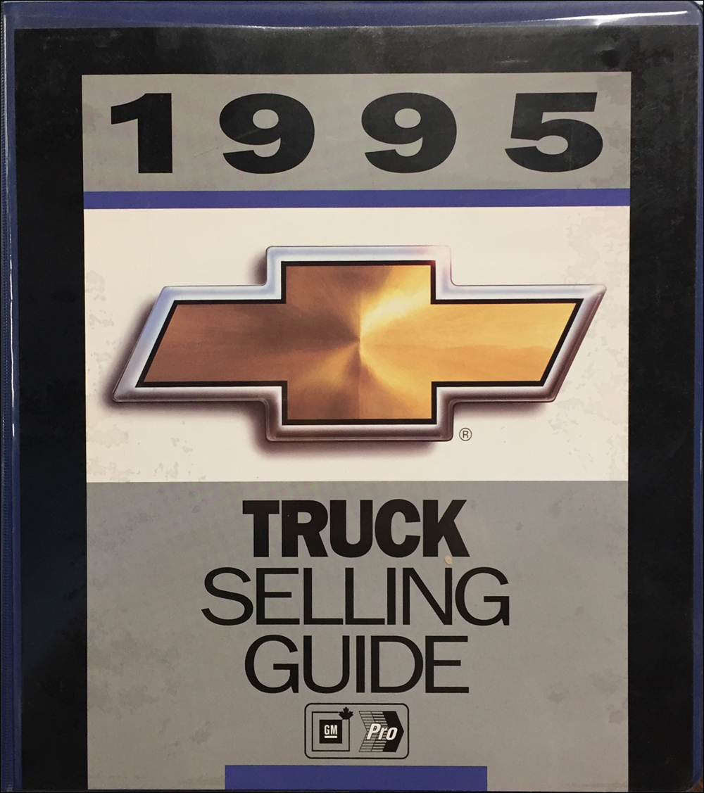 1995 Chevrolet Truck Data Book and Color and Upholstery Dealer Album Original Canadian