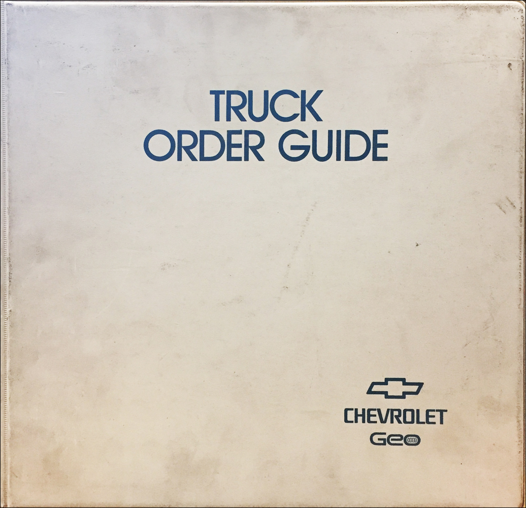 1995 Chevrolet Truck Order Guide Dealer Album Original