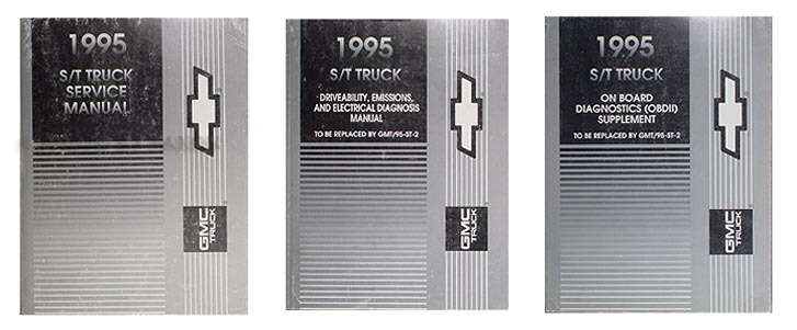 1995 GMC Chevy S T Truck Preliminary Shop Manual Set S10 Blazer Jimmy Pickup Sonoma Service