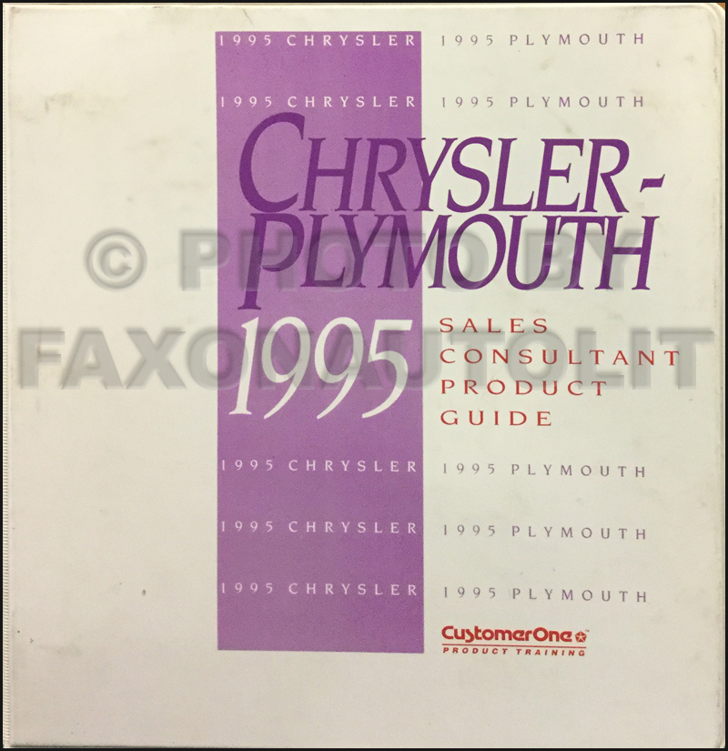 1995 Chrysler Plymouth Sales Consultant Product Guide Original