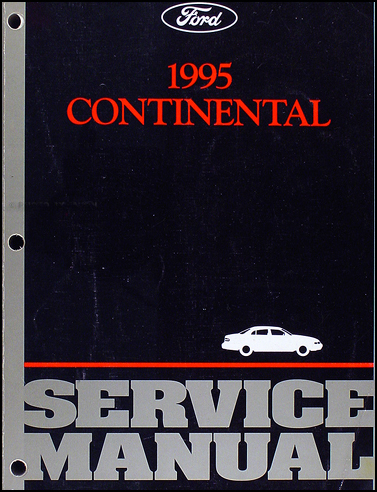 1995 Lincoln Continental Shop Manual Original