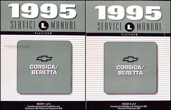 1995 Chevy Corsica/Beretta Shop Manual Original Set