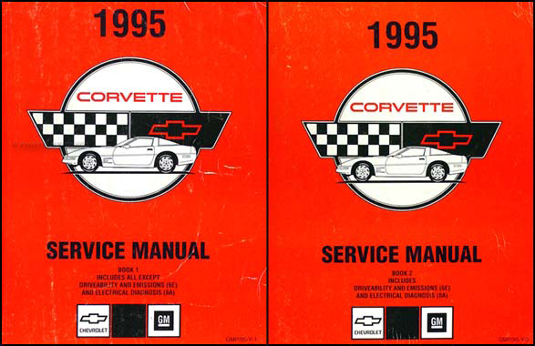 1995 Corvette Shop Manual Original, all models including ZR-1