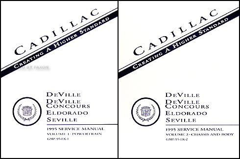 1995 Cadillac Deville and Concours Eldorado Seville Repair Shop Manual