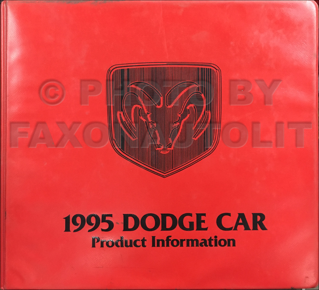 1995 Dodge Color & Upholstery Album and Data Book Original