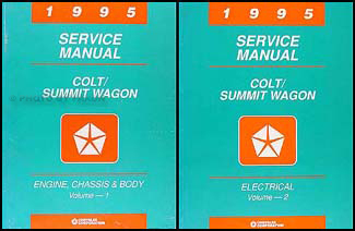 1995 Colt & Summit Wagon Shop Manual Original 2 Volume Set