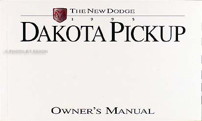 1995 Dodge Dakota Pickup Truck Original Owner's Manual Pack 95