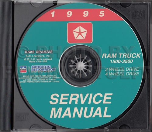 1995 Dodge Ram 1500-3500 Truck Repair Shop Manual CD