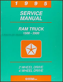 1995 Dodge Ram 1500-3500 Truck Shop Manual Original