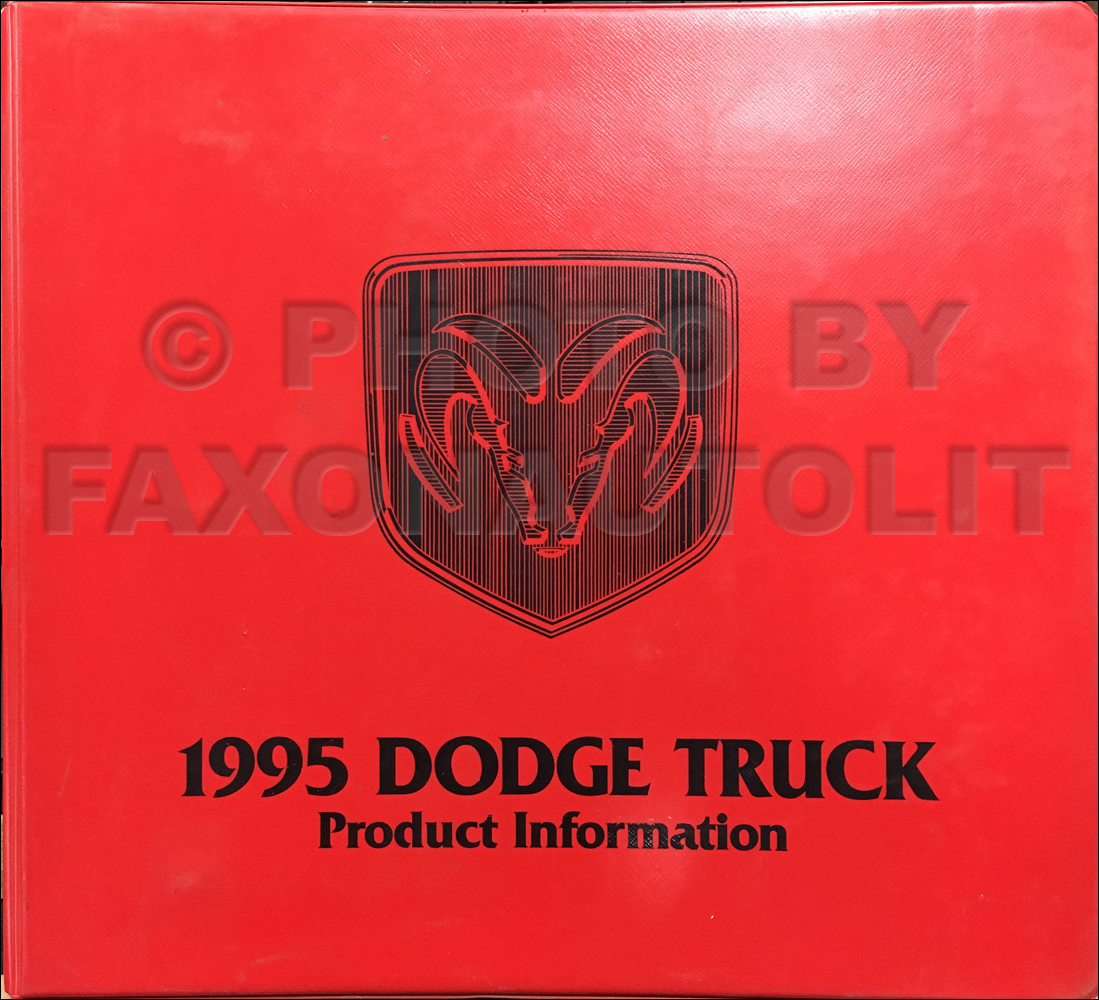 1995 Dodge Truck Color & Upholstery Album and Data Book Original