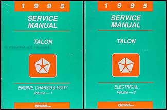 1995 Eagle Talon Shop Manual Original 2 Volume Set