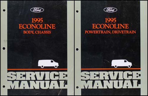 1995 Ford Econoline Van and Club Wagon Repair Shop Manual Set Original