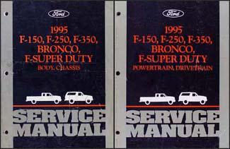 1995 Ford Pickup Truck Repair Shop Manual Original Set F150 F250 F350 Super Duty Bronco