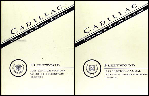 1995 Cadillac Fleetwood & Brougham Shop Manual Original Set