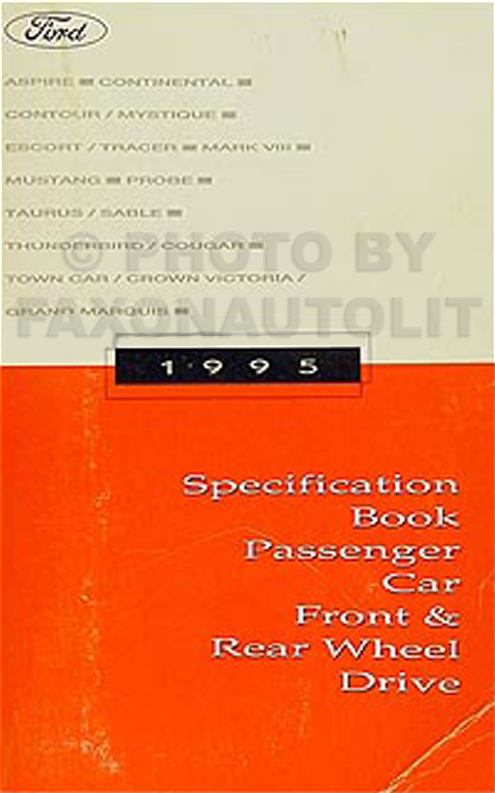 1995 Ford Lincoln Mercury Service Specifications Book Original