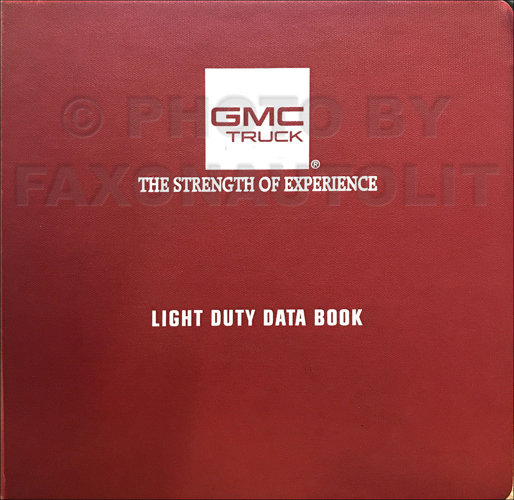 1995 GMC Light Duty Data Book Original Dealer Album