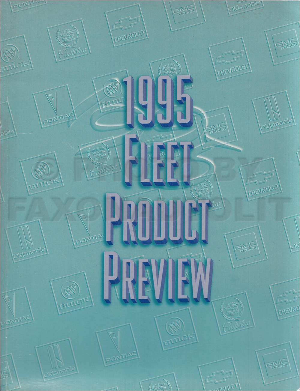 1995 General Motors Fleet Buyers Guide Preview Original GM Dealer Album