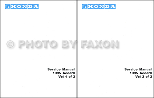 1995 Honda Accord Repair Manual Original