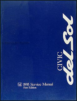 1995 Honda Civic del Sol Repair Manual Original