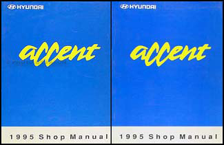 1995 Hyundai Accent Shop Manual Original 2 Volume Set