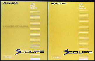 1995 Hyundai Scoupe Shop Manual Original 2 Volume Set