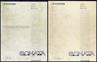 1995 Hyundai Sonata Shop Manual Original 2 Volume Set