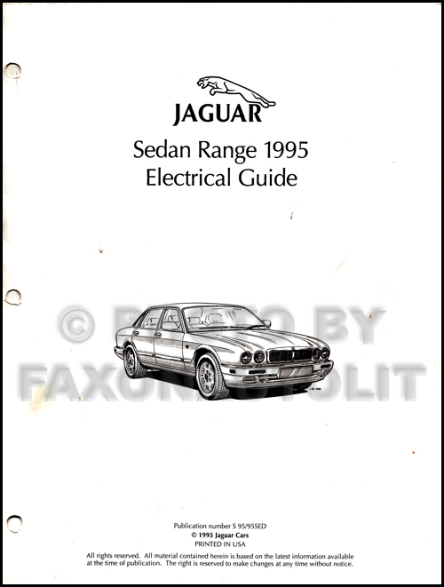 1995 jaguar xj6 xj12 electrical guide wiring diagram original X300 Wiring Diagram