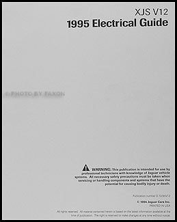 1995 Jaguar XJS V12 Electrical Guide Wiring Diagram Original