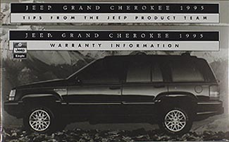 1995 Jeep Grand Cherokee Original Owneru0027s Manual 95