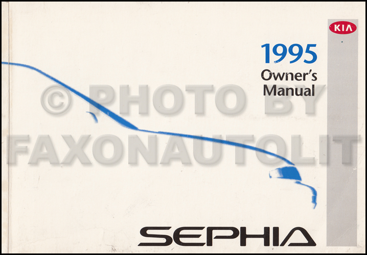 1995 Kia Sephia Owners Manual Original