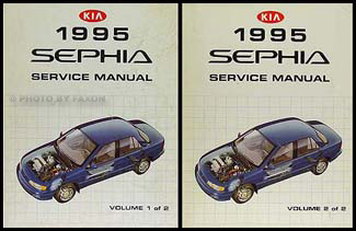 1995 Kia Sephia Repair Manual 2 Volume Set Original