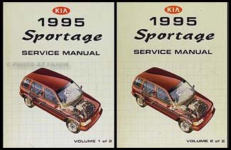1995 Kia Sportage Repair Manual 2 Volume Set Original