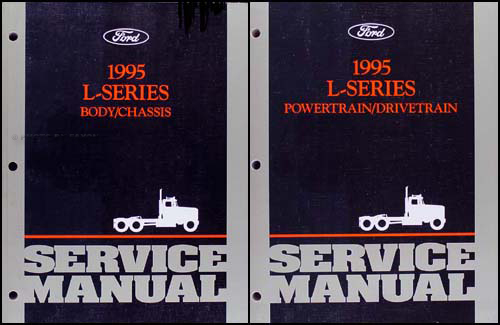 1995 Ford L-Series 7000-9000 Repair Shop Manual Original 2 Volume Set