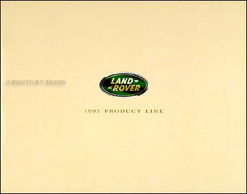 1995 Land Rover Original Sales Catalog Range/Discovery/Defender