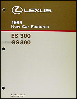 1995 Lexus ES and GS 300 Features Manual Original