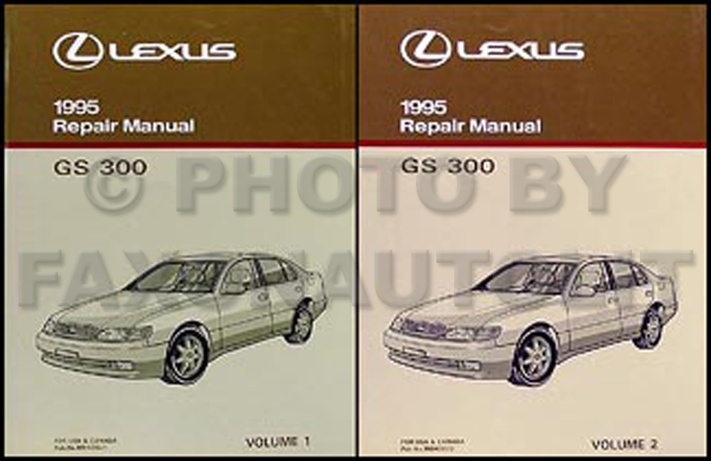 1995 Lexus GS 300 Repair Manual Original 2 Volume Set
