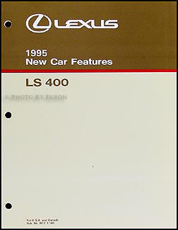 1995 Lexus LS 400 Features Manual Original