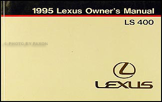 1995 Lexus LS 400 Owners Manual Original