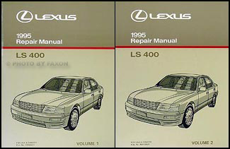 1995 Lexus LS 400 Repair Manual Original 2 Volume Set