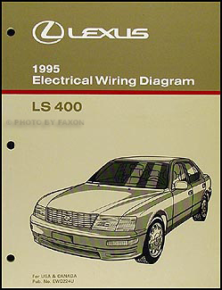 1995 Lexus LS 400 Wiring Diagram Manual Original