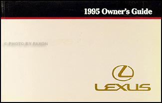 1995 Lexus Warranty, Maintenance Record, and General Information
