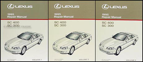 1995 Lexus SC 300 400 Repair Shop Manual Original 3 Volume Set SC300 SC400
