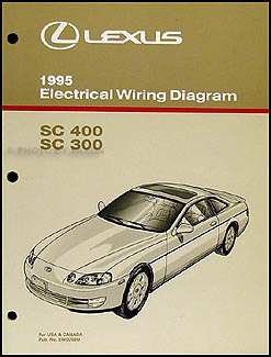 1995 Lexus SC 300/400 Wiring Diagram Manual Original