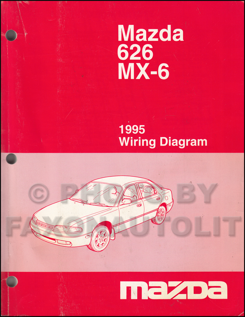1995 Mazda 626 and MX-6 Wiring Diagram Manual Original