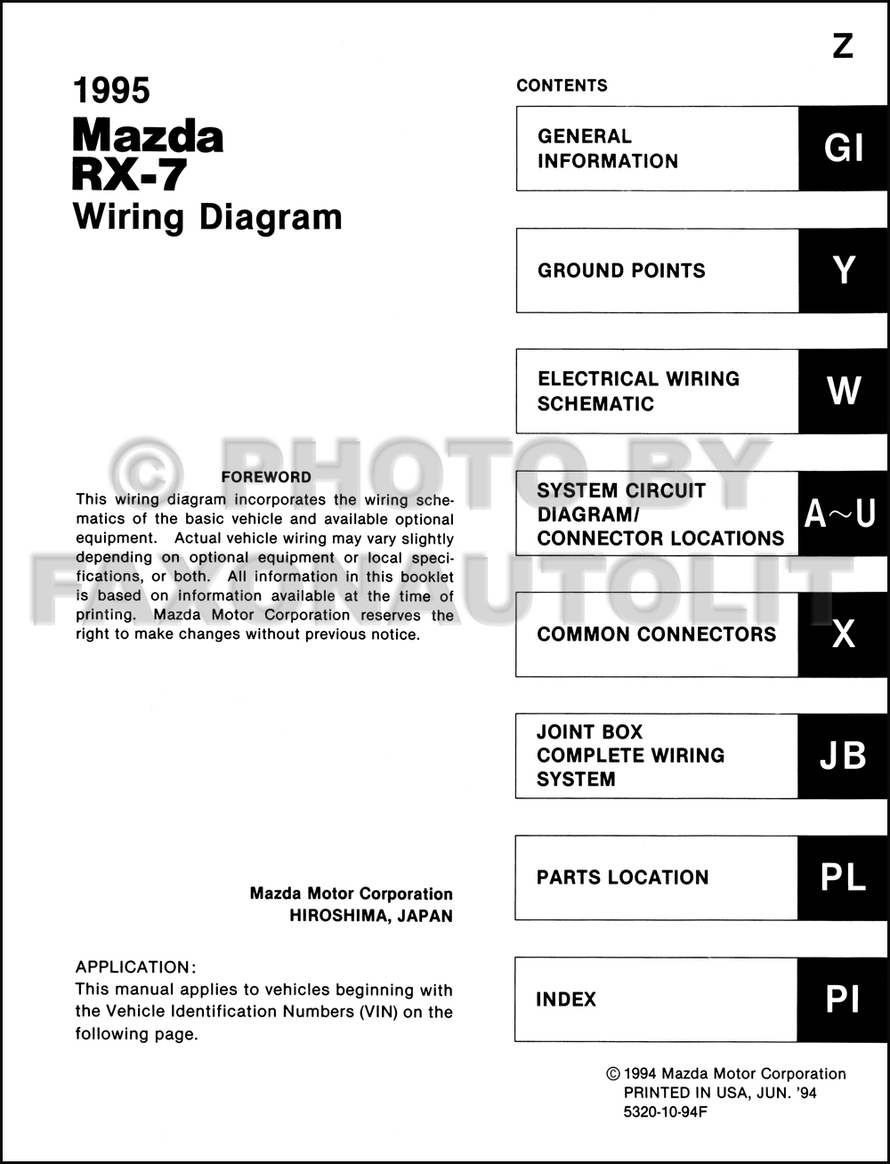 1995 Mazda Rx 7 Wiring Diagram Manual Original Rx7 Schematic Click On Thumbnail To Zoom