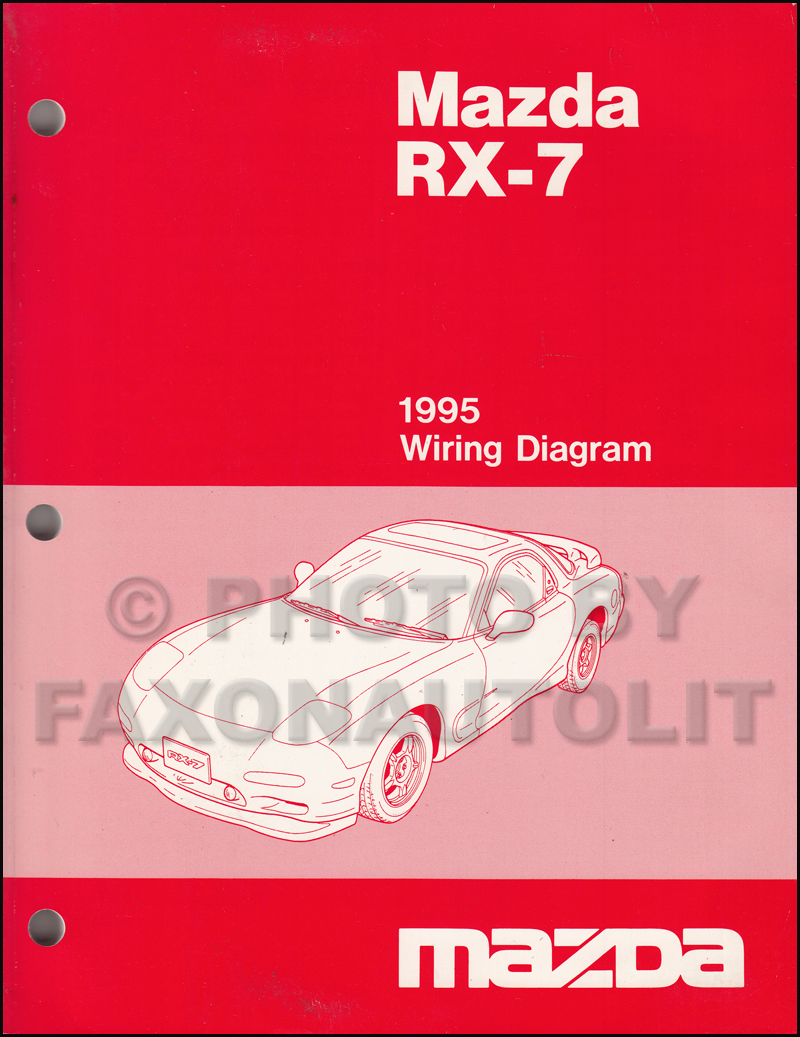 1995 Mazda RX-7 Wiring Diagram Manual Original RX7