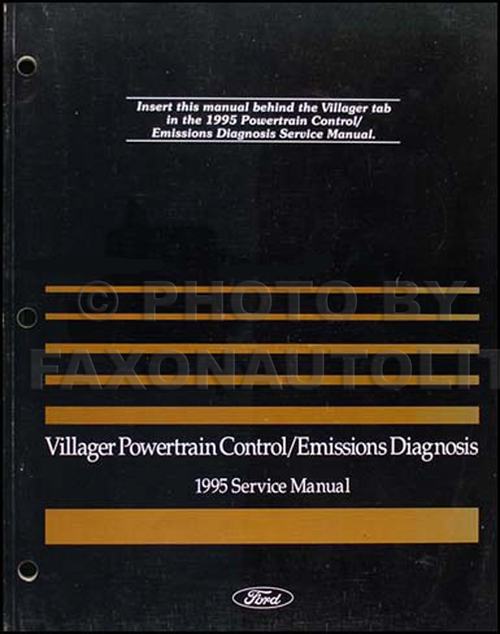1995 Mercury Villager Engine & Emissions Diagnosis Manual