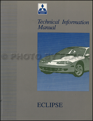 1995 Mitsubishi Eclipse Technical Information Manual Original