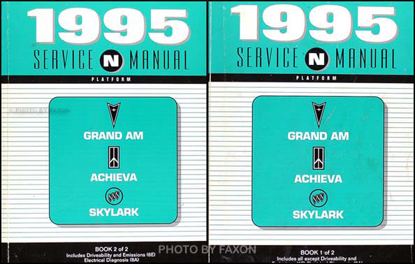 1995 Grand Am/Achieva/Skylark Shop Manual Original Set (N-Platform)